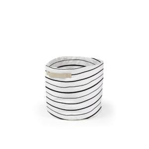 cesta lineas color blanco