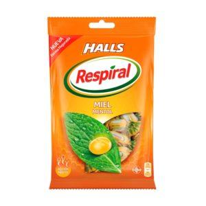 Caramelos Halls Respiral miel-mentol