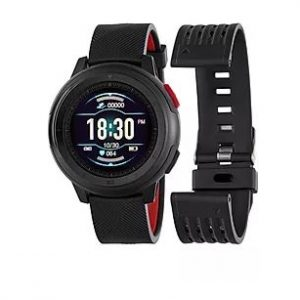 smartwatch huesca negro rojo