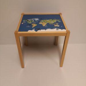mesa mapa mundi infantil huesca