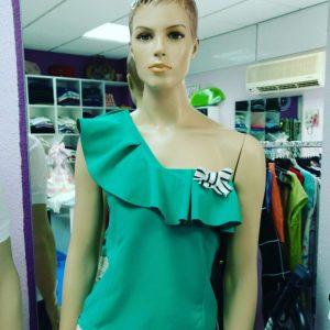 blusa verde huesca