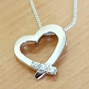 colgante plata 925 corazon circonia (1)