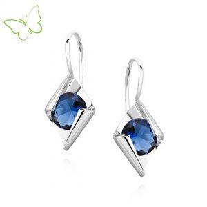 pendientes plata con cyrconia azul