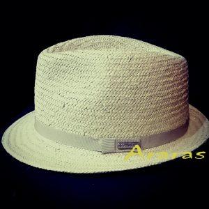 Sombrero Trilby papel ala corta CS199 beige