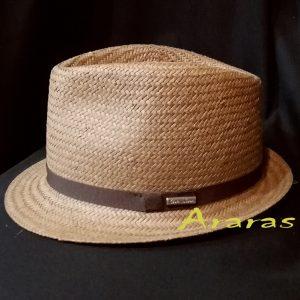 Sombrero Trilby papel ala corta CS199 marron