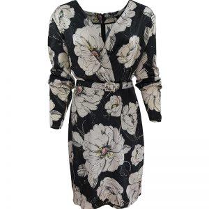 vestido negro con flores guess huesca