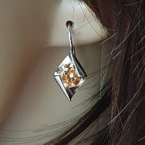 plata joyas mariposa verde