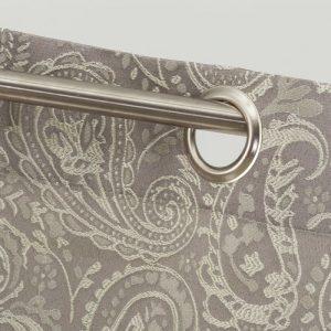 cortina jacquard kashmir gris plata