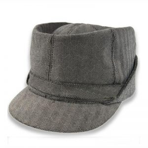 Gorra sewn gris en espiga