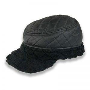 Gorra Sewn acolchada negra