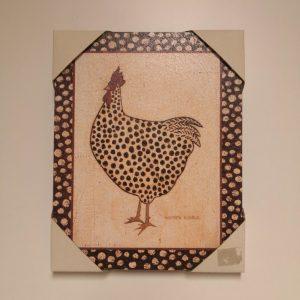 Cuadro gallina pintadita
