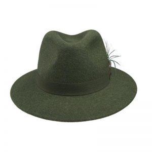 Sombrero ala ancha tirolés front