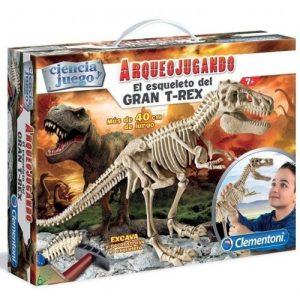 Arqueojugando, T- Rex Gigante, descubre los fosiles y monta el temido dinosaurio, además brilla en la oscuridad
