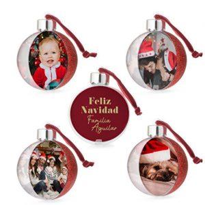 Preciosas bolas decorativas para el árbol de Navidad personalizadas