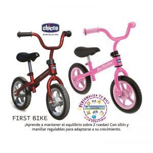 Mi primera bici roja o rosa Chicco
