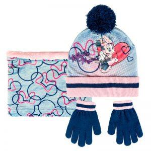 Conjunto de invierno gorro, guantes y braga de cuello Minnie Mouse Disney