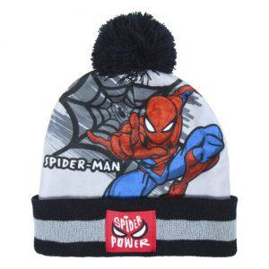 Gorro y guantes para ir a la ultima moda en invierno con el superhéroe Spider-man