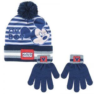 Conjunto para el invierno gorro y guantes de Mickey Mouse