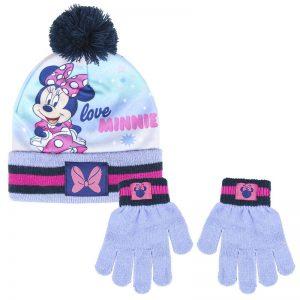 Conjunto para el invierno gorro y guantes de Minnie Mouse