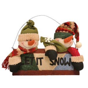 Navidad, cartel let it snow
