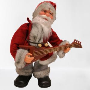 Papa Noel más rockero figura decorativa música y movimiento con la canción It's my life de Bon Jovi