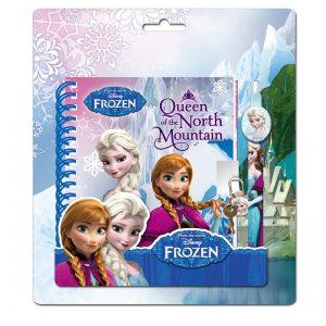 Set diario secreto Frozen con bolígrafo a conjunto y candado