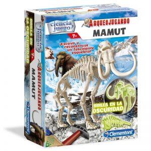Arqueojugando, Mamut de Clementoni, descubre los antepasados del elefante con este fantástico kit, además ¡Brilla en la oscuridad!