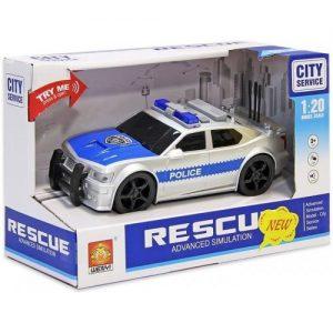 Fascinante coche de policia escala 1:20 con luz y sonidos