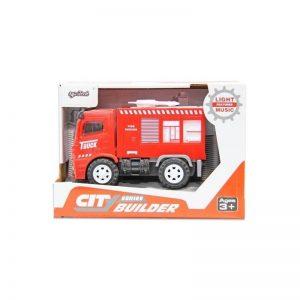 Camión de bomberos de juguete con luces y sonidos