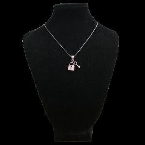 Colgante de plata, llave con candado, el mejor regalo para todos aquellos enamorados en San Valentín, aniversarios...