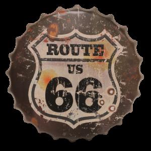Chapas metálicas en forma de tapa de botella de estilo vintage, ideales para decorar, bares, restaurantes, tu hogar... Ruta 66, Route 66
