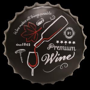 Chapas metálicas en forma de tapa de botella de estilo vintage, ideales para decorar, bares, restaurantes, tu hogar... Premium Wine