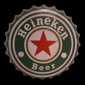 Chapas metálicas en forma de tapa de botella de estilo vintage, ideales para decorar, bares, restaurantes, tu hogar... Heineken Beer