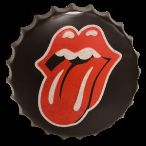 Chapas metálicas en forma de tapa de botella de estilo vintage, ideales para decorar, bares, restaurantes, tu hogar... Rolling Stones
