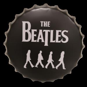 Chapas metálicas en forma de tapa de botella de estilo vintage, ideales para decorar, bares, restaurantes, tu hogar... The Beatles