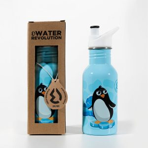 Cantimplora infantil acero inoxidable 500 ml Water revolution Pingüino