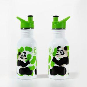 Cantimplora infantil acero inoxidable 500 ml Water revolution Oso Panda