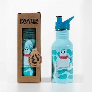 Cantimplora infantil acero inoxidable 500 ml Water revolution Oso Polar