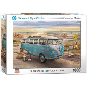 Puzzle 1000 piezas Eurographics, The Love & Hope VW Bus