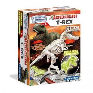 Arqueojugando T-Rex fosforescente, brilla en la oscuridad