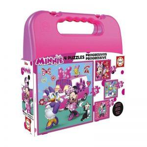 Maleta puzzles progresivos de Minnie Mouse y sus amigos