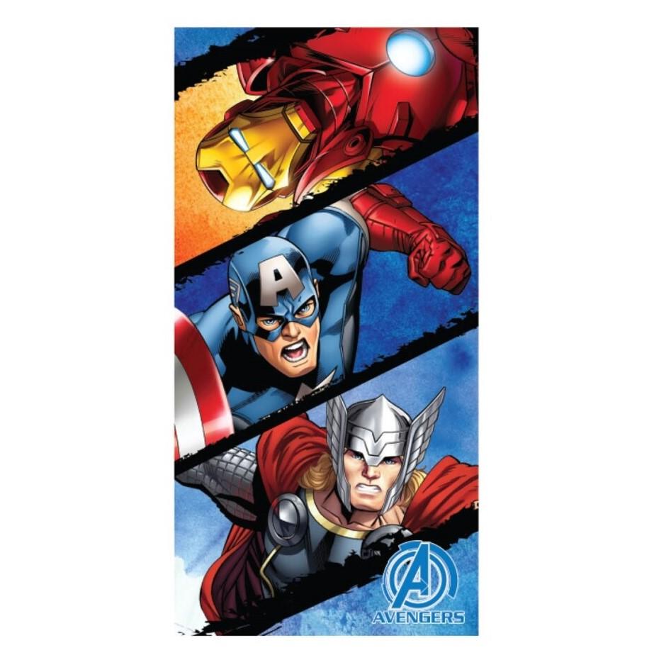 Toalla de playa Microfibra Avengers, Iron Man, Thor y Capitán América