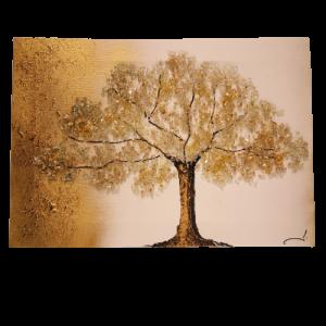 Tapa de Contador, madera estilo Vintage, arbol con relieve cristalitos